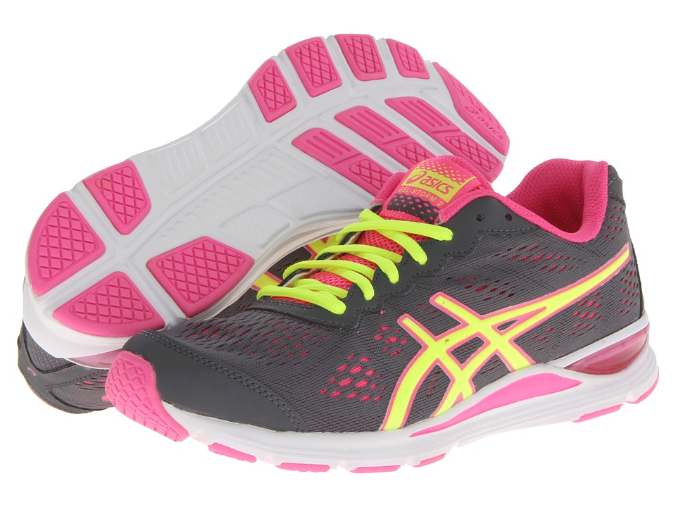 ASICS - GEL-Storm 2 (Storm/Flash Yellow/Pink) Women's Running Shoes