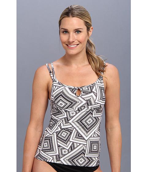 Lole - Maya Tankini Top (White Scarf Print) Women's Swimwear