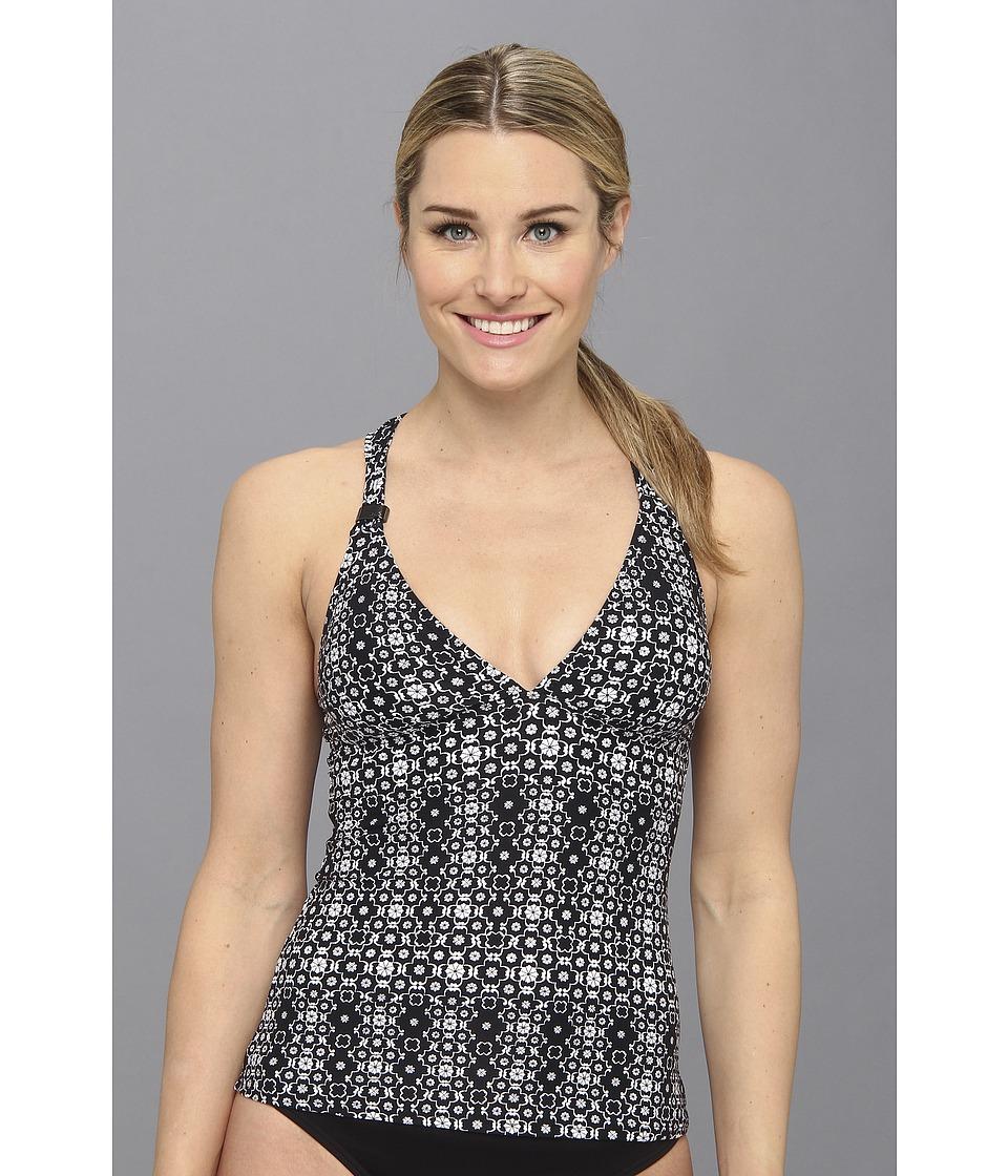 Lole - Masai Tankini Top (Black Tile) Women's Swimwear