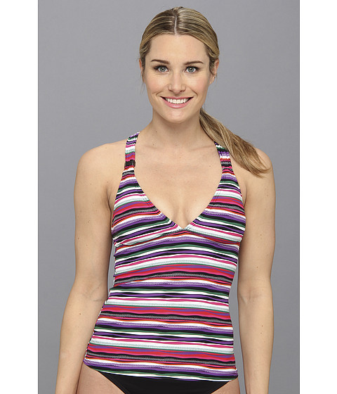 Lole - Masai Tankini Top (Glade Green Multistripe) Women