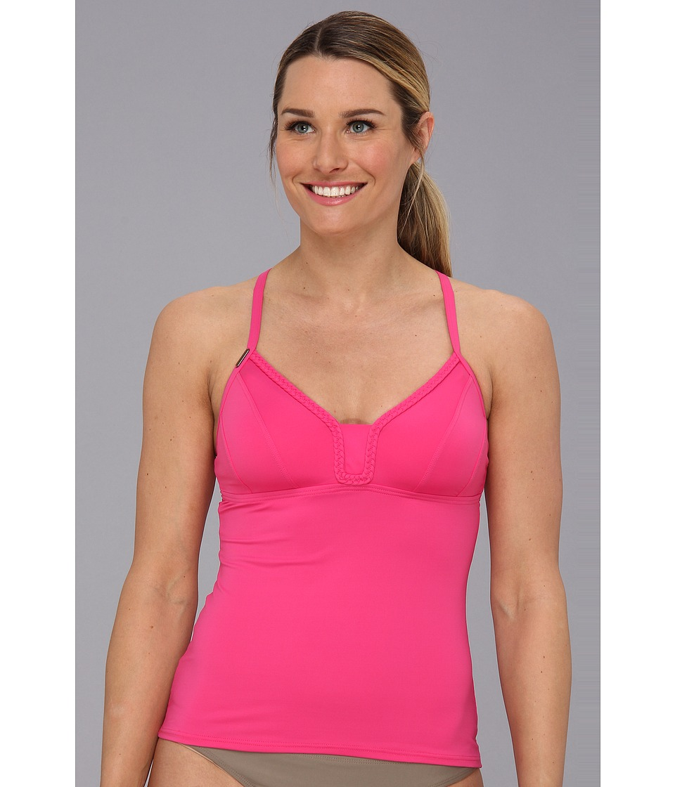 Lole - Azur Tankini Top (Guava) Women's Swimwear