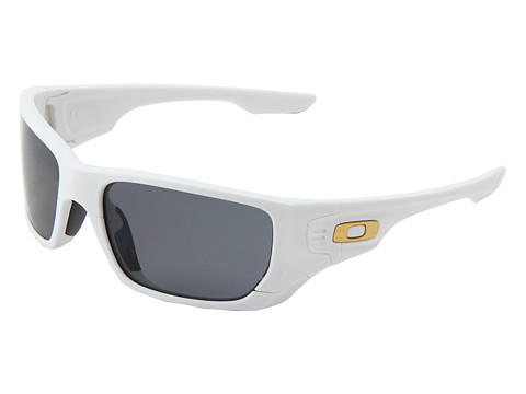 Oakley - Style Switch Polarized (Shaun White Gold Series Polished White /Grey Polarized and 24K) Plastic Frame Sport Sunglasses