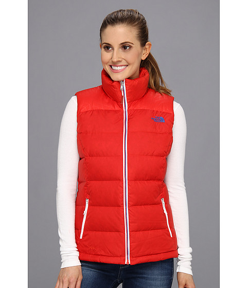 The North Face - International Nuptse Vest (Russia/Majestic Red/Nautical Blue) Women