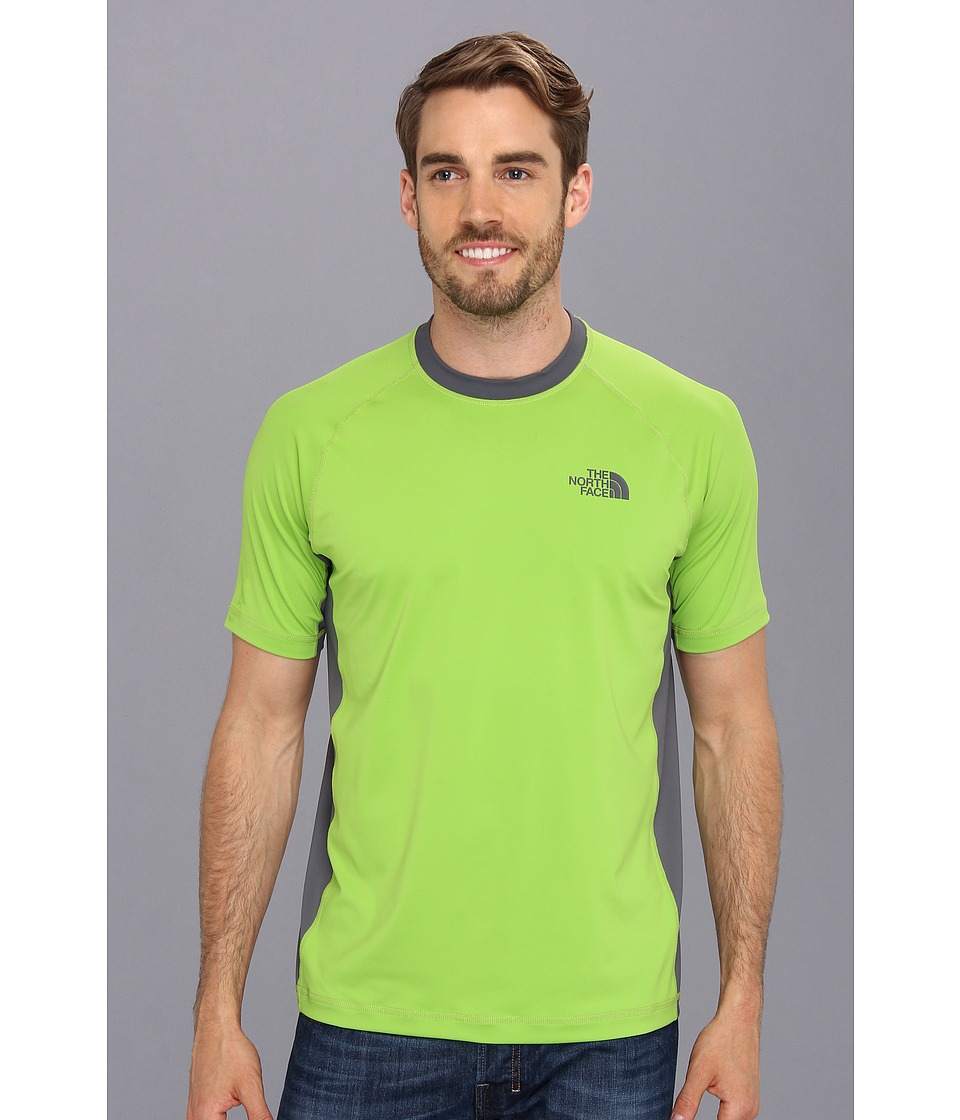 The North Face - S/S Class V Shirt (Tree Frog Green/Vanadis Grey) Men