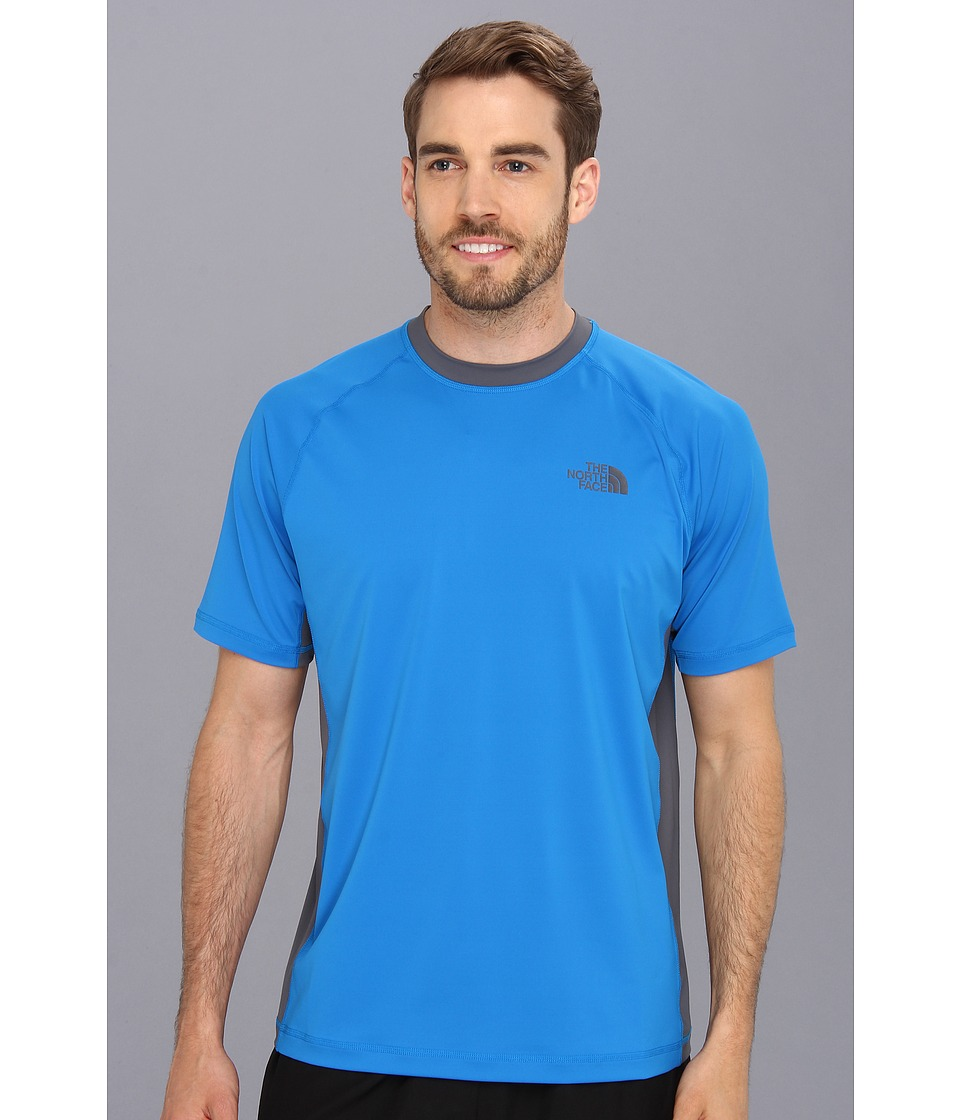 The North Face - S/S Class V Shirt (Drummer Blue/Vanadis Grey) Men's Short Sleeve Pullover