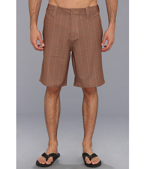 The North Face - Pura Vida Walkshort (Utility Brown Plaid) Men's Swimwear