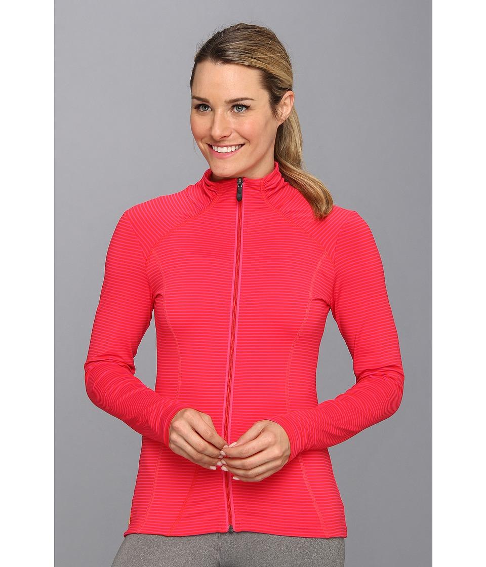 Lole - Essential Full Zip Jacket (Pomegranate Stripe) Women's Jacket