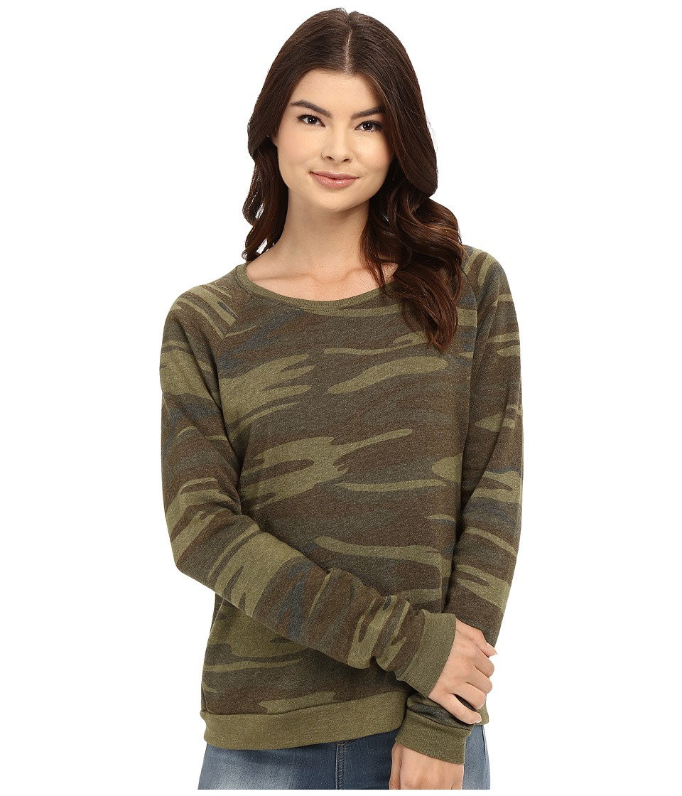 Alternative - Printed Dash Sweatshirt (Eco Camo) Women's Sweatshirt