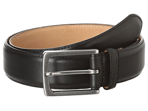 John Varvatos - 32MM Feather Edge Stained Strap (Black) Men's Belts