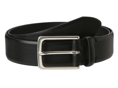 John Varvatos - 35 MM Textured Harness on Vachetta Leather (Black) Men