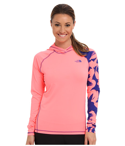 The North Face - Water Dome Hoodie (Sugary Pink/Marker Blue Floral Print) Women's Sweatshirt