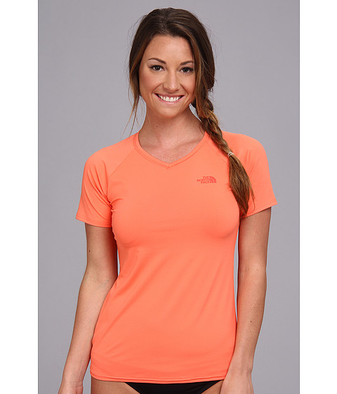 The North Face - Class V Graphic Shirt (Miami Orange/Miami Orange) Women