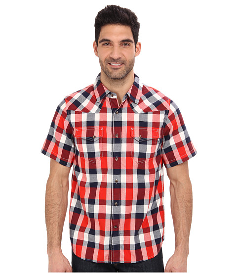 The North Face - S/S Gardello Shirt (Fiery Red) Men