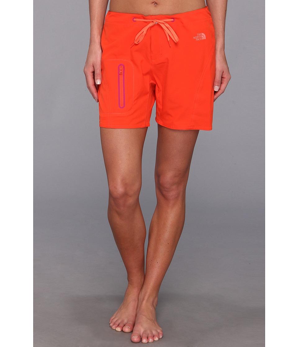 The North Face - Echo Lake Apex Washoe Short (Fire Brick Red/Miami Orange) Women