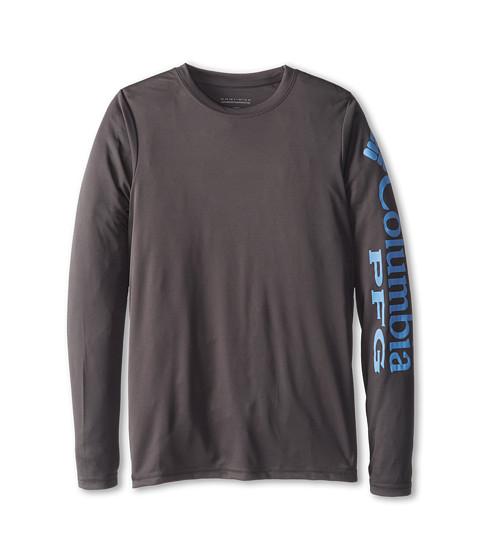Columbia Kids - Terminal Tackle L/S Tee (Little Kids/Big Kids) (Grill/White Cap PFG) Boy's T Shirt
