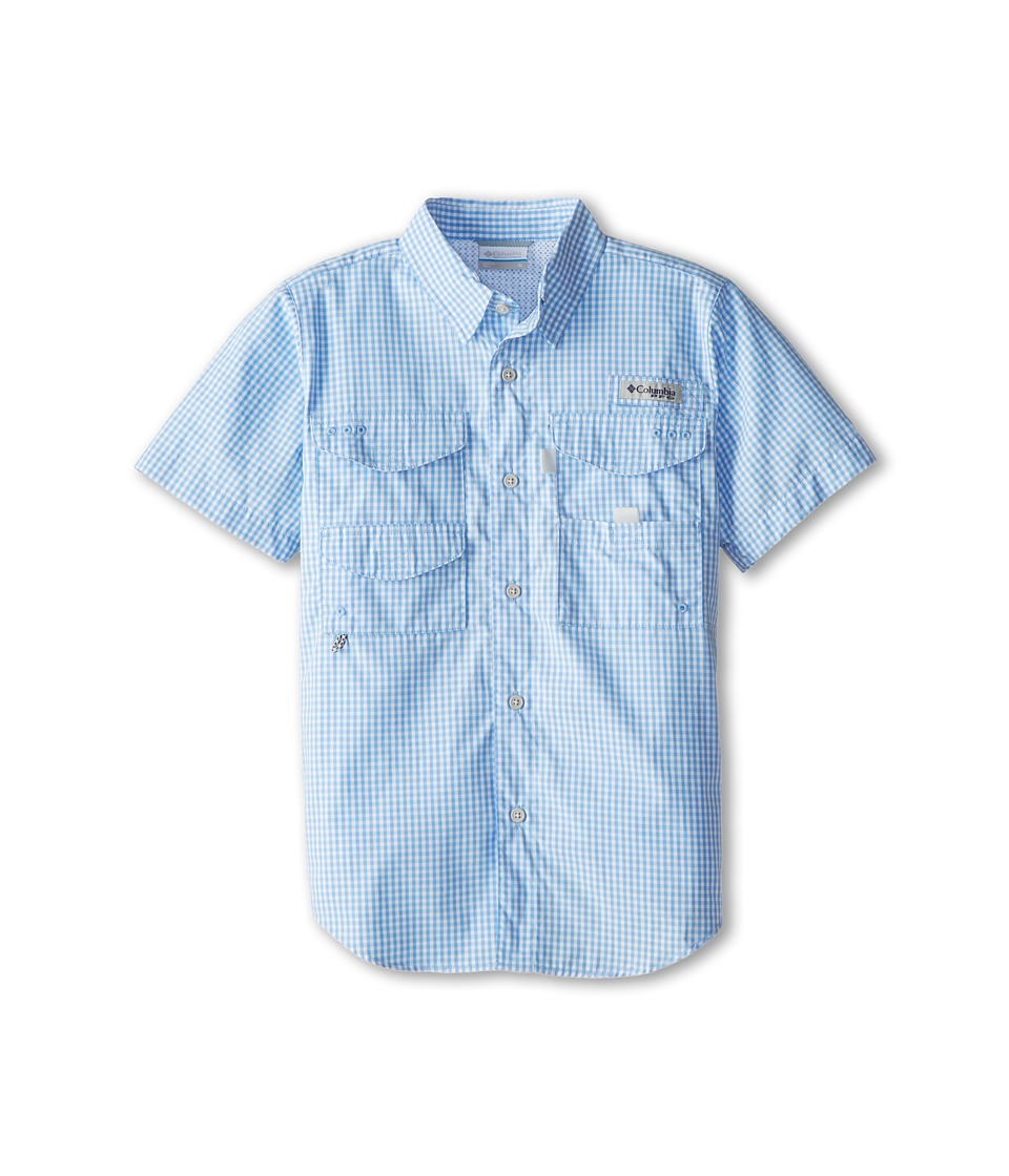 Columbia Kids - Super Bonehead S/S Shirt (Little Kids/Big Kids) (White Cap Gingham) Boy's Short Sleeve Button Up