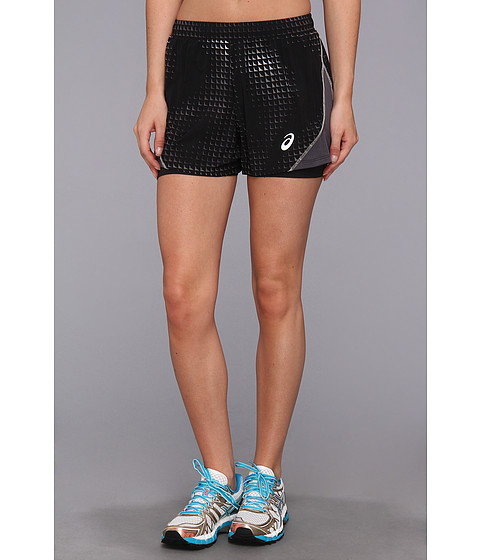 ASICS - Lite-Show Versatility Short 3.5 (Black Energy Print/Black) Women's Shorts