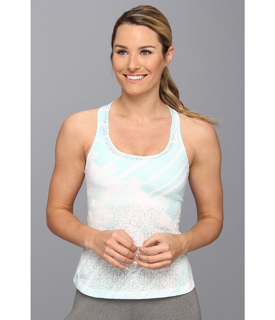 ASICS - Tessa Burnout Racerback (Blue Light) Women's Sleeveless