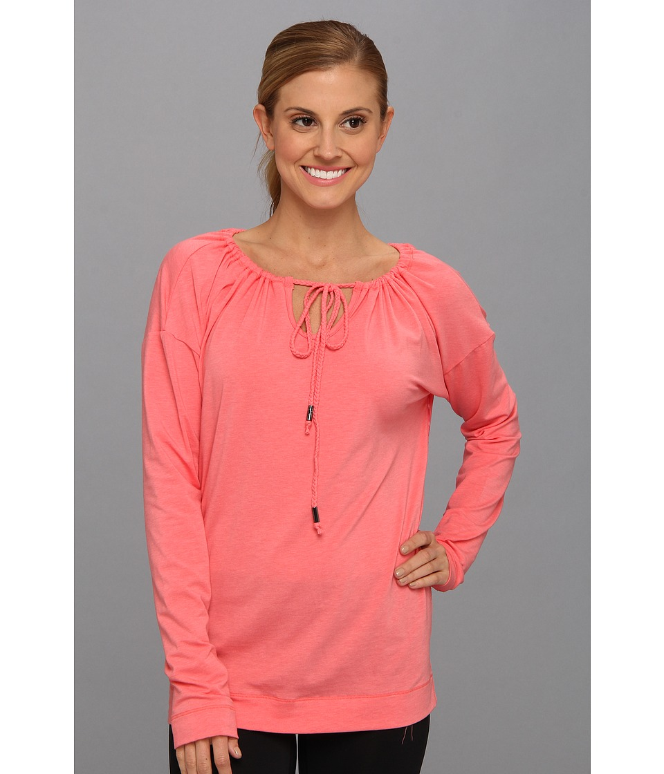 Lole - Tulasana Top (Pink Coral) Women's Long Sleeve Pullover