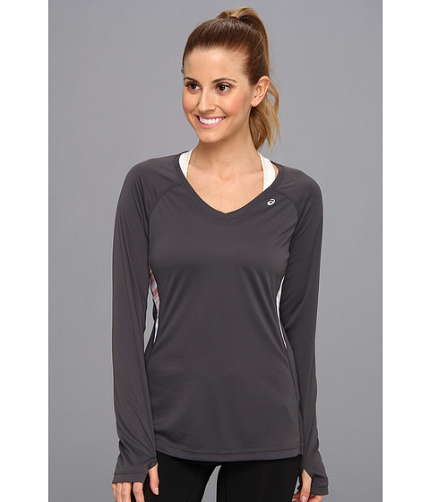 ASICS - Favorite L/S Top (Steel/Bengal Print) Women