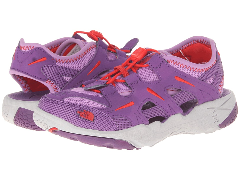 The North Face Kids - Hedgefrog (Toddler/Little Kid/Big Kid) (Pixie Purple/Fiery Red) Girls Shoes