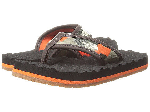 The North Face Kids - Base Camp Flip-Flop (Toddler/Little Kid/Big Kid) (Demitasse Brown/Red Orange/Camo) Boys Shoes