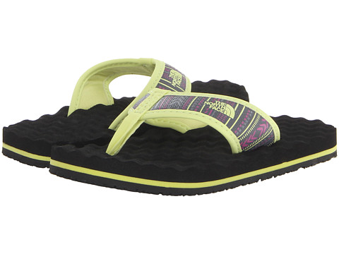 The North Face Kids - Base Camp Flip-Flop (Toddler/Little Kid/Big Kid) (Exotic Green/Stripe/TNF Black) Girls Shoes