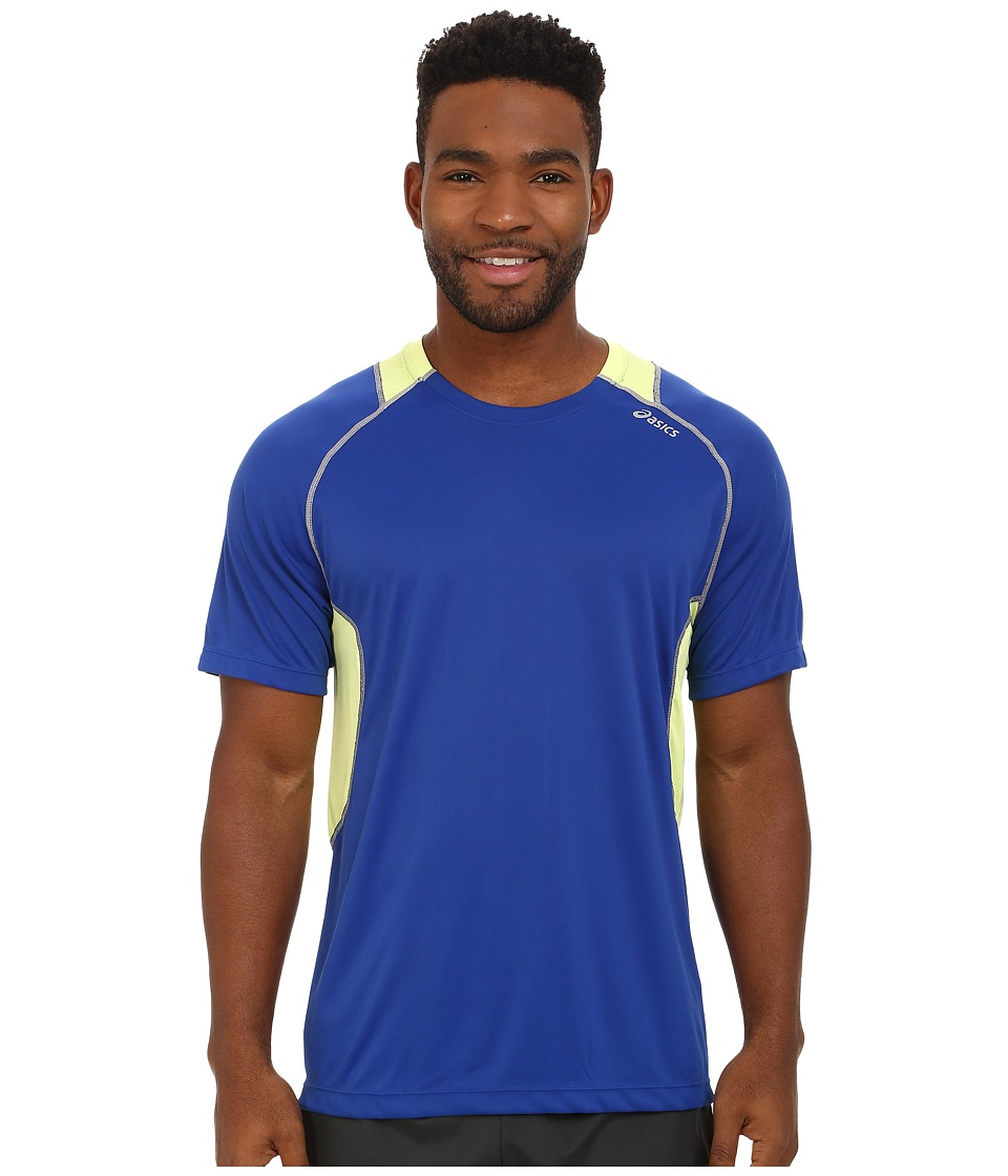 ASICS - Lite-Show Favorite S/S Top (Surf/Sunny Lime) Men's Short Sleeve Pullover
