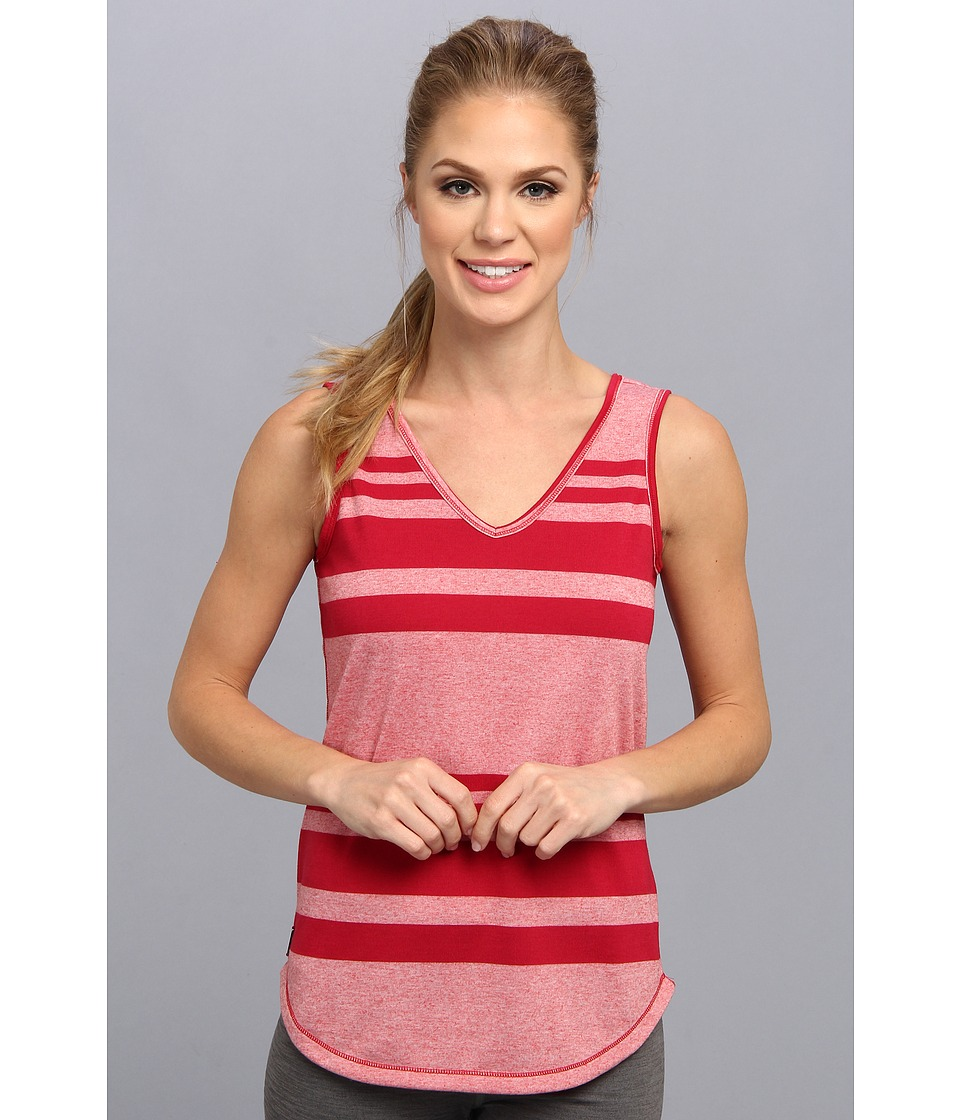 Lole - Dune Tank Top (Pomegranate Linen Stripe) Women's Sleeveless