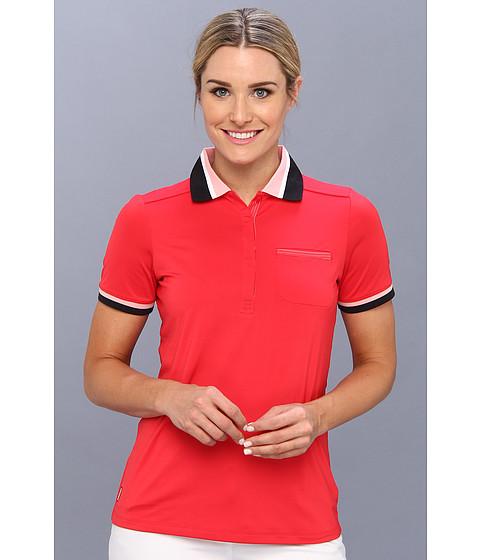 Lole - Joyce Polo (Pomegranate) Women's Short Sleeve Pullover