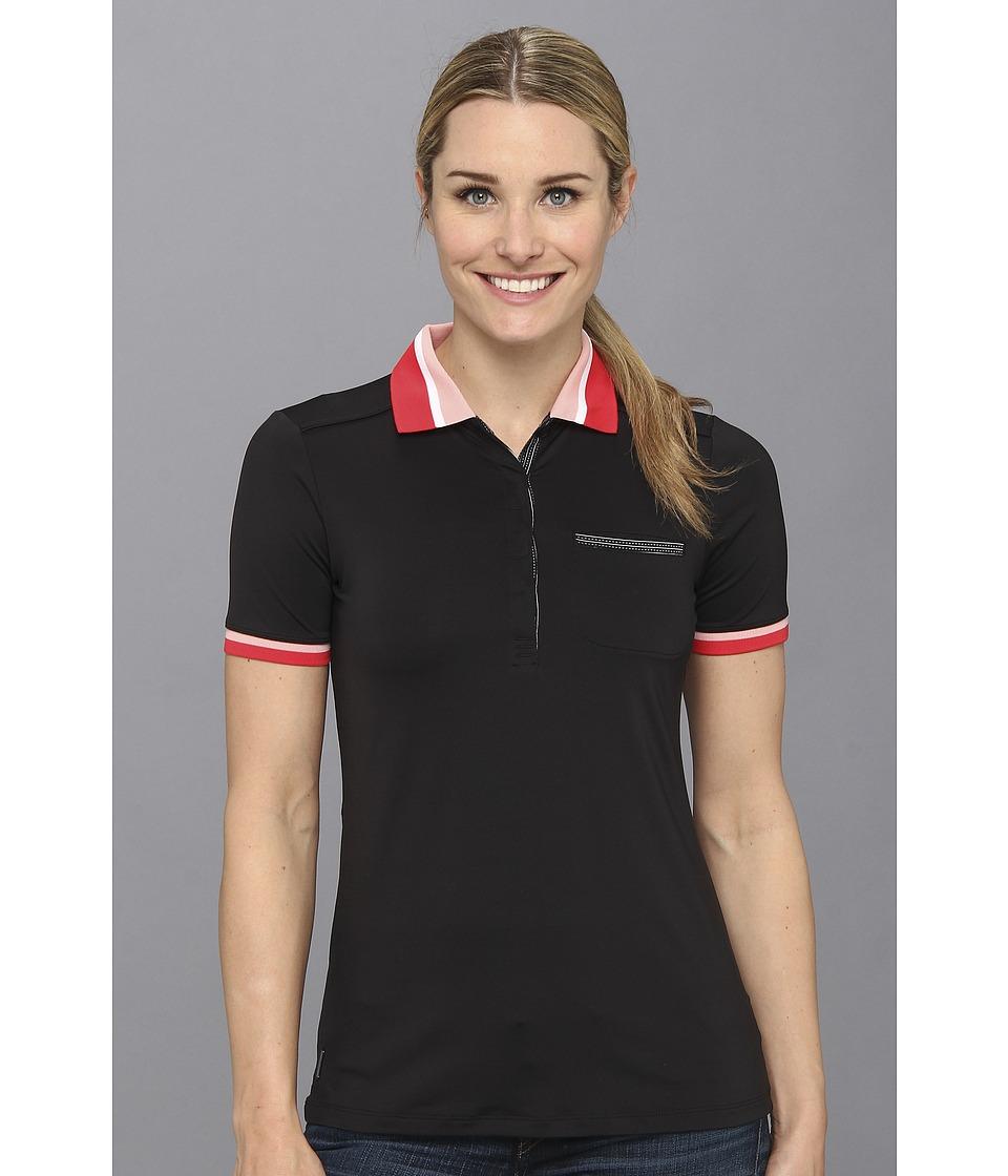 Lole - Joyce Polo (Black) Women's Short Sleeve Pullover