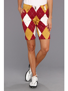 SALE! $26.99 - Save $48 on Loudmouth Golf Maroon and Gold Argyle Short (Maroon Gold White) Apparel - 64.01% OFF $75.00