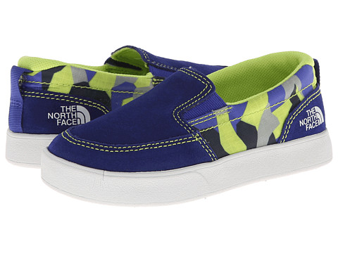 The North Face Kids - Camp Slip-On (Toddler/Little Kid) (Honor Blue/Safety Green) Boy