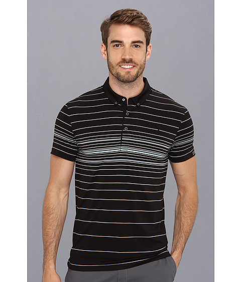 PUMA Golf - Lux Stripe Polo (Black) Men's Short Sleeve Pullover