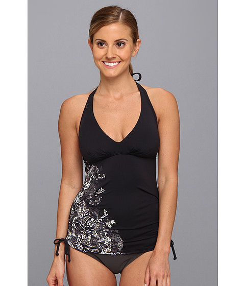 Lole - Jamaica Tankini Top (Black Paisley Print) Women's Swimwear