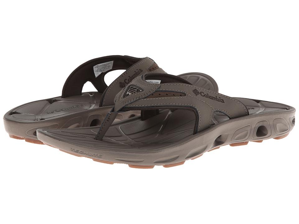 Columbia - Techsun Vent Flip Leather PFG (Mud/Stout) Men's Shoes