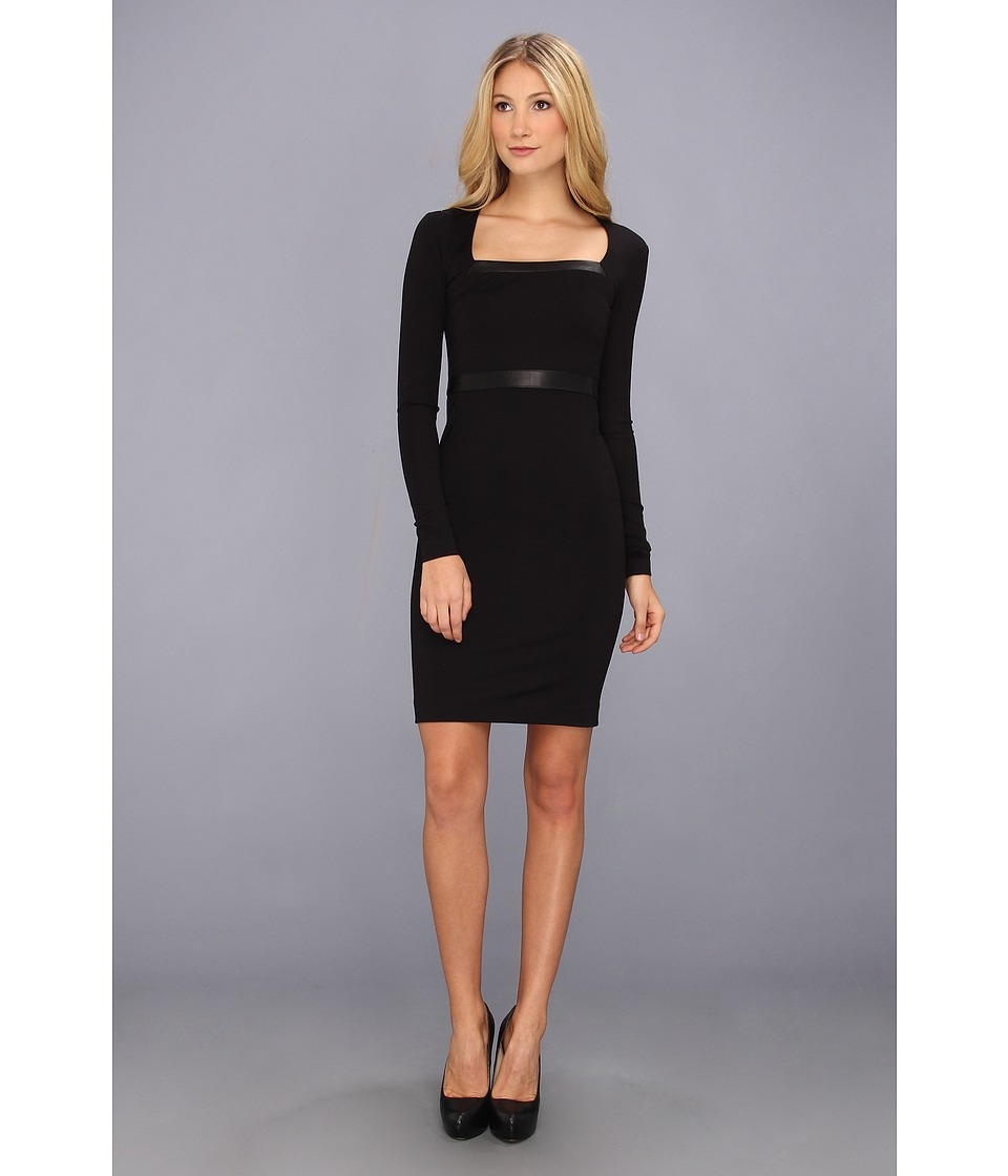 Nicole Miller Lane Ponte Dress (Black) Women
