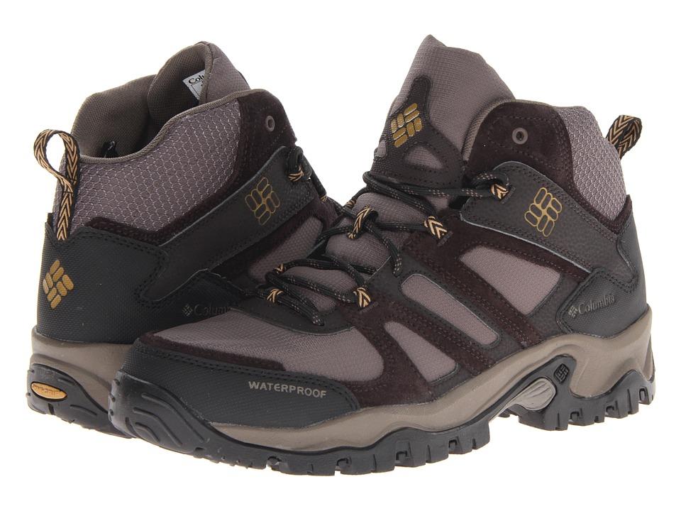 Columbia - Woodburn Mid Waterproof (Mud/Toast) Men's Waterproof Boots