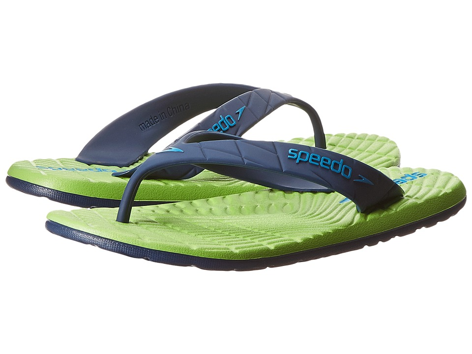 Speedo Kids - Exsqueeze Me Flip (Little Kid/Big Kid) (Insignia Blue/Jamine Green) Kids Shoes