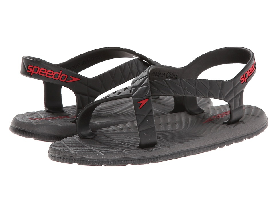 Speedo Kids - Exsqueeze Me Flow (Little Kid/Big Kid) (Black/Extreme Red) Kids Shoes