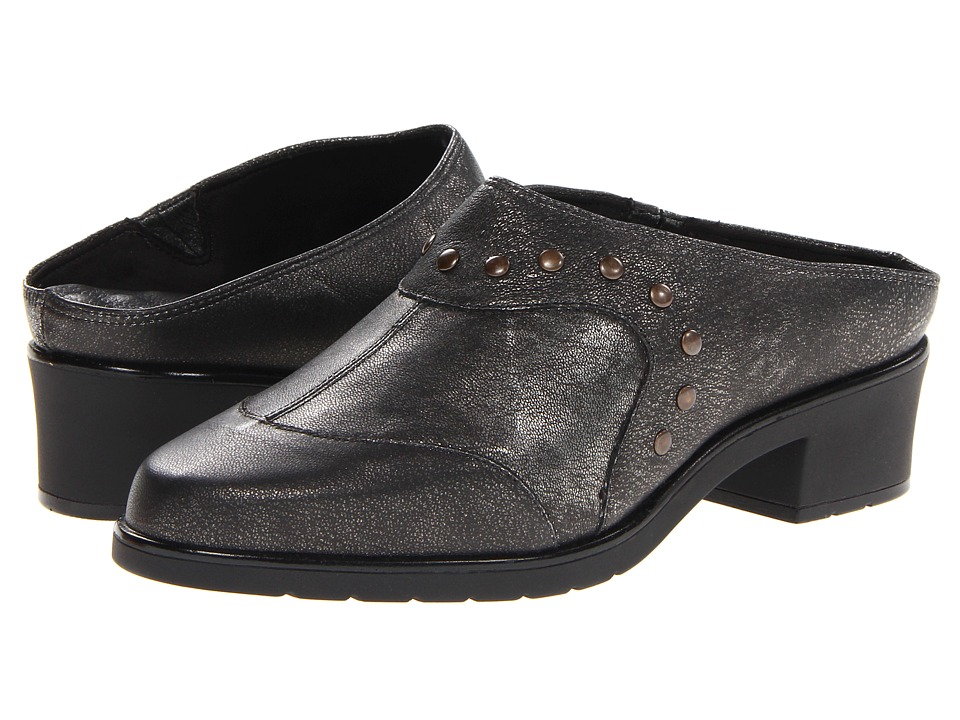 Walking Cradles - Click (Black Antique/Metal Nappa) Women's Shoes