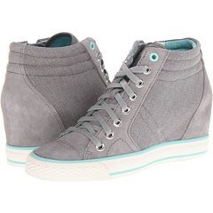 DKNY Cindy (Grey Canvas Suede) Footwear