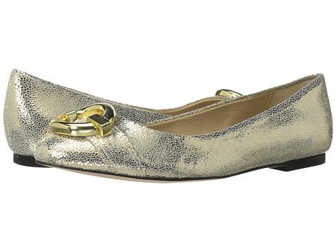 Diane von Furstenberg - Delta (Gold Tumbled Metallic Leather) Women