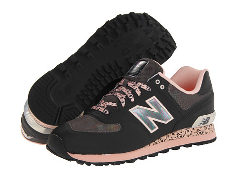 New Balance Classics - Atmosphere 574 - Limited Edition (Jet Black/Glow-In-The-Dark Orange) Men's Classic Shoes