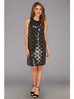 SALE! $134.99 - Save $160 on Laundry by Shelli Segal All Over Sequin Shift (Dark Charcoal) Apparel - 54.24% OFF $295.00