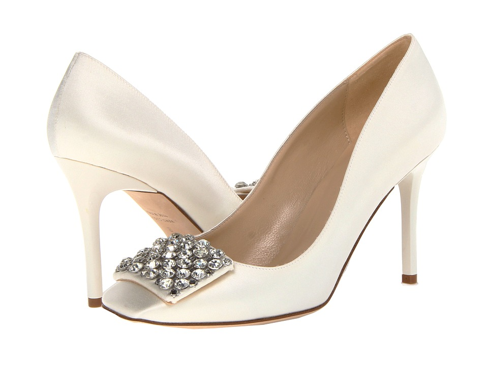 Kate Spade New York - Happy (Ivory Satin/Clear Stones) High Heels