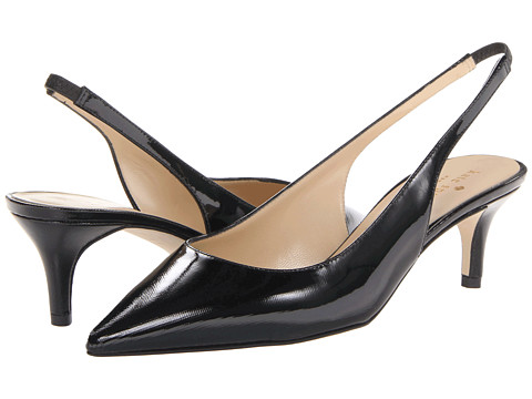 Kate Spade New York - Saia (Black Saffiano Patent) High Heels