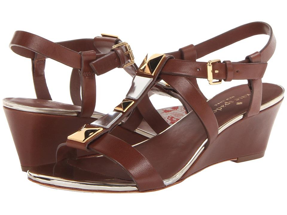 Kate Spade New York - Denver (Luggage Vacchetta) Women's Wedge Shoes