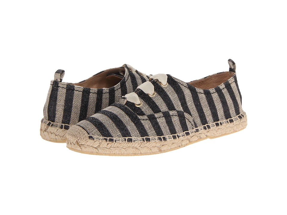 Kate Spade New York - Lina (Natural/Black Glitter Striped Linen) Women's Shoes