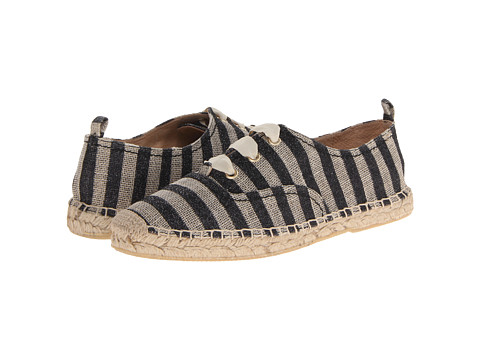Kate Spade New York - Lina (Natural/Black Glitter Striped Linen) Women